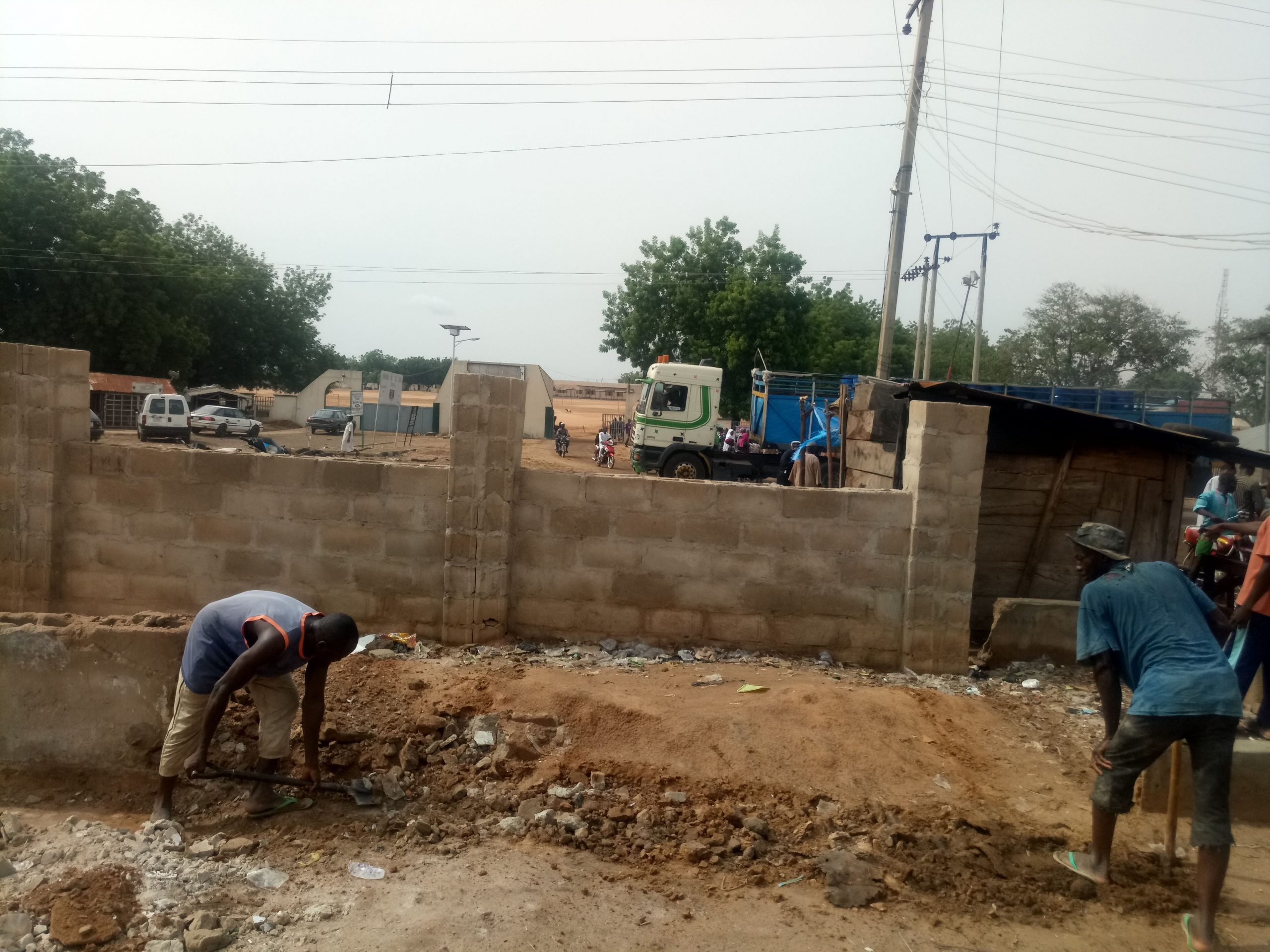 Monthly Progress Report (PRG): F-190063: 2019: CONSTRUCTION OF 170M LINEAR METER BLOCKWALL FENCE WITH REINFORCED CONCRETE COLUMNS AND METAL GRILL WITH GATE AT POLICE PRIMARY SCHOOL, KAITA, KATSINA STATE.: LotNo F190063; 2019
